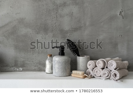 a detail of a minimalistic bathroom stock photo © jrstock
