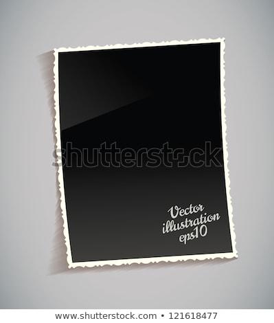 papír · kettő · szakadt · fehér · árnyék · copy · space - stock fotó © beholdereye