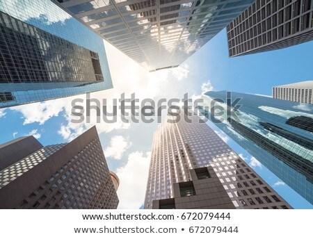 休斯頓 市中心 天際線 得克薩斯州 城市 美國 商業照片 © lunamarina