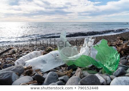 litter at the beach Stock photo © meinzahn
