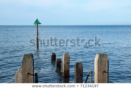 Mar país de gales céu madeira Foto stock © latent