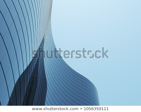 Glass facade of a modern building Stock photo © filipw