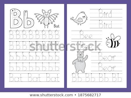 alfabeto · cor · preto · vetor · abstrato · fundo - foto stock © bluering