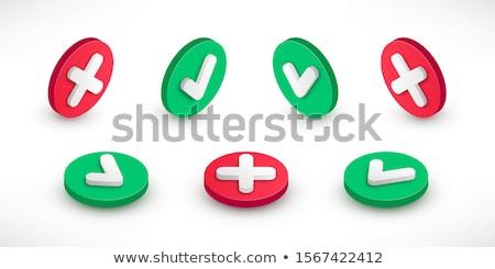 3d illusztráció gombok piros osztályzat izolált fehér Stock fotó © tussik