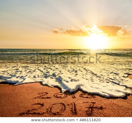 2017 happy new year calendar with colorful waves Stock photo © SArts