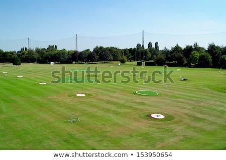 Golfe condução alcance cinqüenta marcador Foto stock © njnightsky