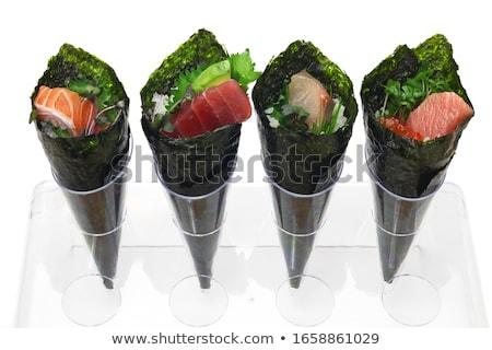 Stock fotó: Tekert · szusi · fotó · hal · háttér · vacsora
