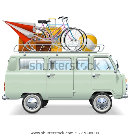 traveler in retro minivan Stock photo © LightFieldStudios