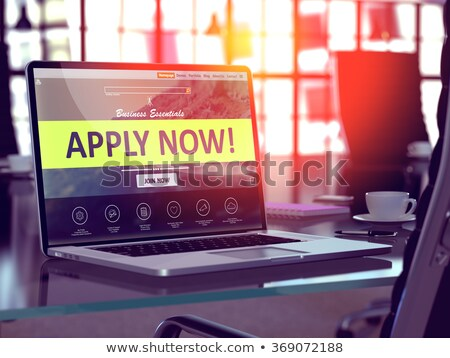 apply now   on laptop screen closeup stock photo © tashatuvango