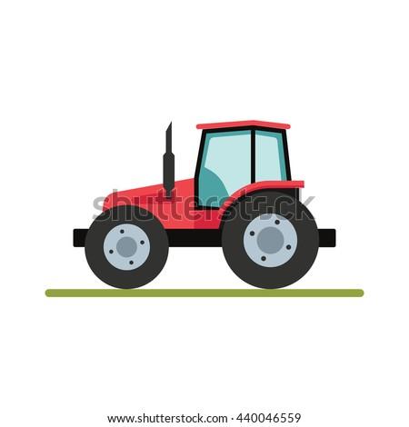 Trekker klassiek agrarisch machines vector ontwerp Stockfoto © RAStudio