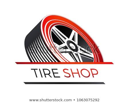 coche · rueda · símbolo · diseno · negro - foto stock © djdarkflower
