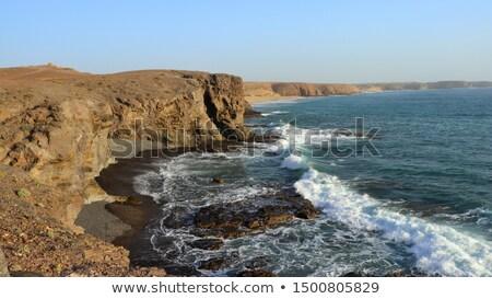 mujeres beach in lanzarote canary islands spain stock photo © nito