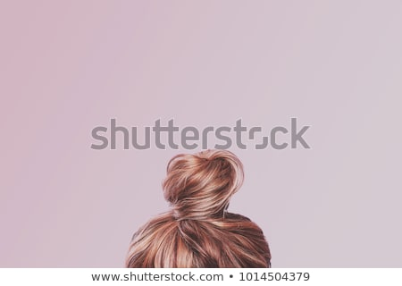 portrait of a beautiful girl with pink hair on a white background 1 stock photo © dmitriisimakov
