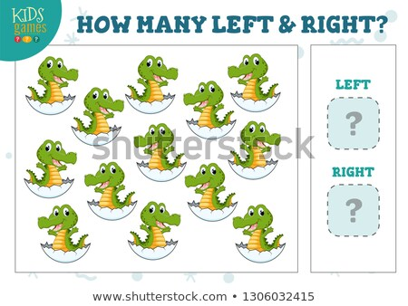 counting left and right pictures of crocodile Stock photo © izakowski