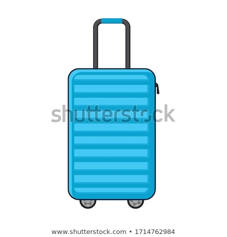 Luggage with Handle and Wheel Vector Illustration Stock photo © robuart