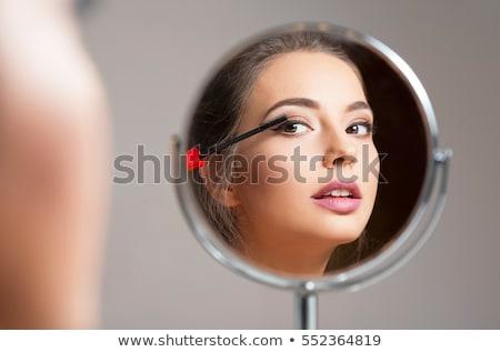 séduisant · jeunes · brunette · fille · maquillage · portrait - photo stock © acidgrey