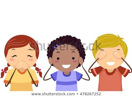 Gyerekek három bölcs férfiak illusztráció fiúk Stock fotó © lenm