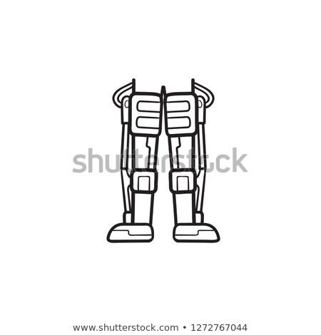 Mechanical robot legs hand drawn outline doodle icon. Stock photo © RAStudio