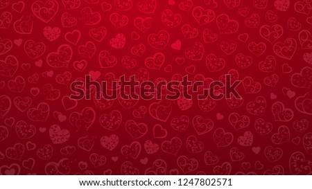 red hearts valentine background stock photo © alexaldo
