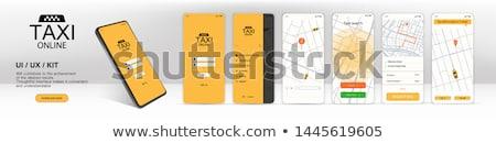 такси службе мобильных применение икона цвета Сток-фото © angelp