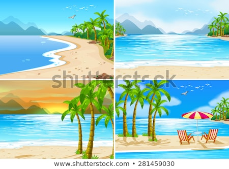 four different pictures at the beach stock photo © colematt