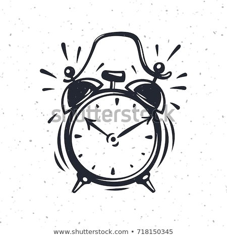 hand drawn clock isolated on white background vector illustration of a sketch style stock photo © arkadivna