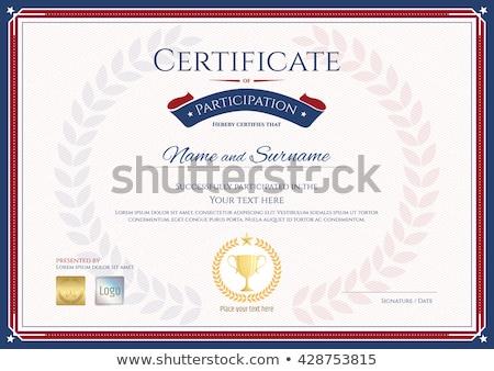 профессиональных · сертификата · достижение · шаблон · дизайна · фон - Сток-фото © sarts