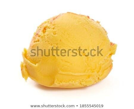 Mango geïsoleerd witte helling voedsel Stockfoto © cammep