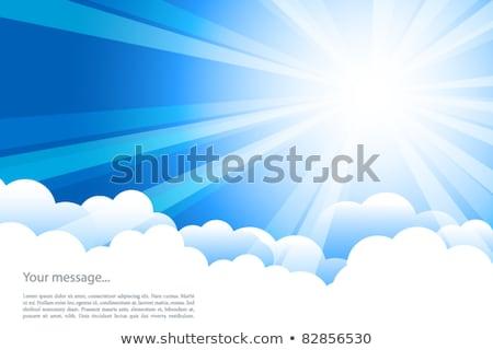Kék szalag nyaláb gradiens háló húsvét Stock fotó © adamson
