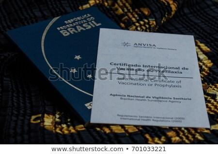 Internazionali certificato vaccinazione medici documento care Foto d'archivio © Zerbor
