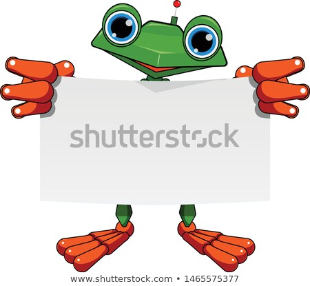 Stock Illustration Frog Robot with White Sheet Stock photo © brux