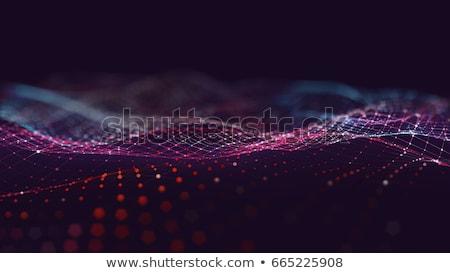 цифровой аннотация частицы дизайна сеть синий Сток-фото © SArts