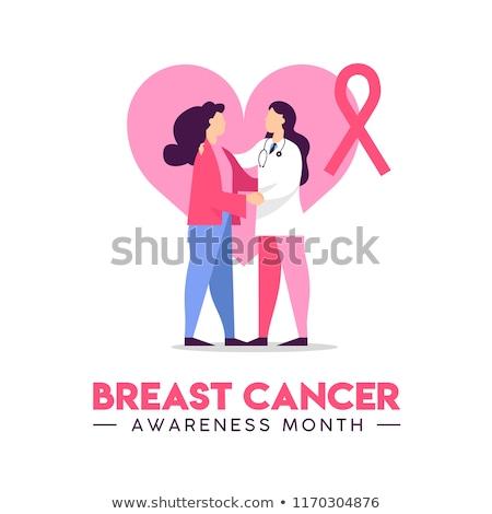 3D · стетоскоп · розовый · Рак · молочной · железы · осведомленность · лента - Сток-фото © wavebreak_media