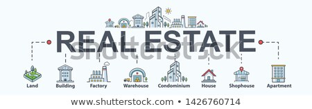 Building House Sale Minimal Infographic Banner Vector Stock photo © pikepicture