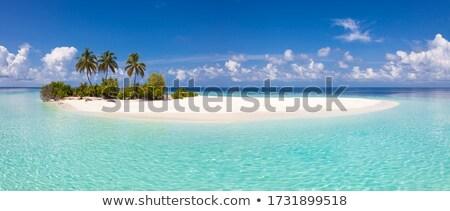 Klein tropisch eiland Blauw zee hemel witte Stockfoto © vapi