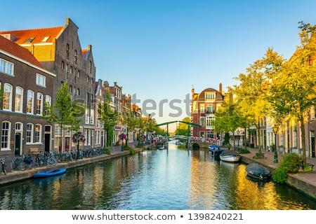 チャンネル オランダ 景観 市 センター 家 ストックフォト © borisb17