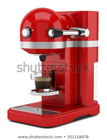 coffee machine on white background. Isolated 3d illustration Stock photo © ISerg