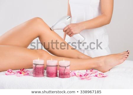 Laser cosmétiques cheveux enlèvement traitement de la peau visage Photo stock © AndreyPopov