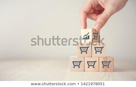 old wood blocks sale stock photo © bobkeenan