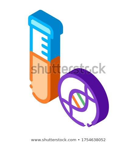 Vidro vial líquido isométrica ícone vetor Foto stock © pikepicture