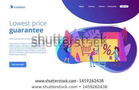 Programa aterrissagem página cliente atração marketing Foto stock © RAStudio