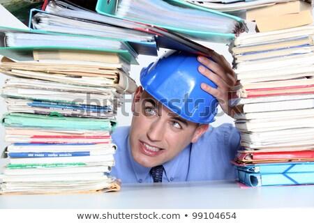 építész aggodalom mappák építkezés üzlet terv Stock fotó © photography33