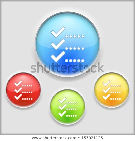 abstract glossy blue list icon Stock photo © pathakdesigner