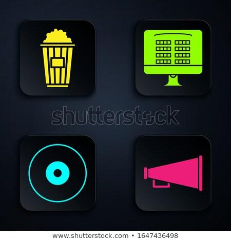 Web icon of Audio speaker in cardboard box Stock photo © gladiolus