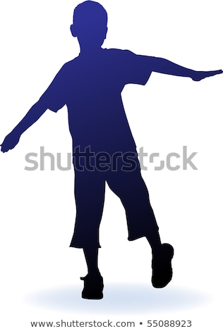 abstract jumping boy silhouette Stock photo © pathakdesigner