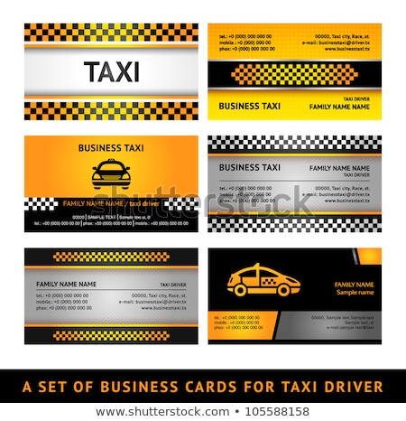 business card taxi   fourth set stock photo © ecelop