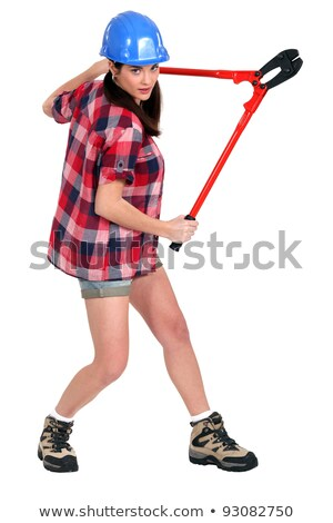 Woman in a hardhat and hotpants Stock photo © photography33