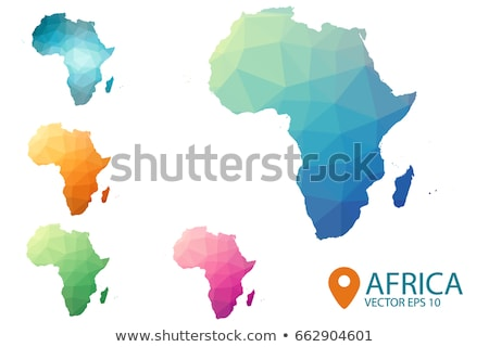 Map in colors of Nigeria Stock photo © perysty