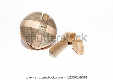 wooden 3D puzzles Stock photo © prill