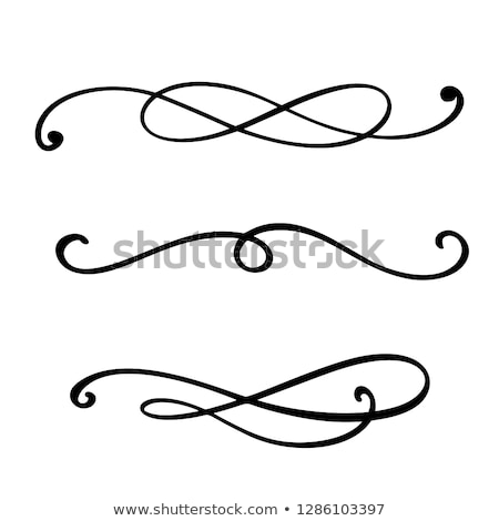 Abstract isolated flourish Stock photo © WaD